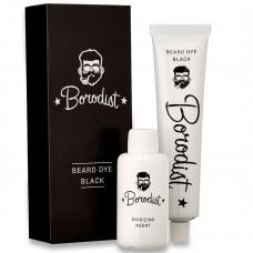 Borodist Beard Dye BLACK - Краска для бороды ЧЁРНАЯ 50гр