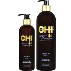 CHI Argan Oil Plus Moringa Oil Shampoo - Восстанавливающий шампунь с маслом арганы, 750 мл.