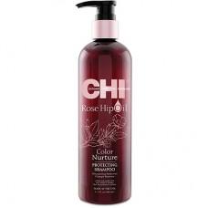 CHI Rose Hip Oil Shampoo - Шампунь с маслом розы и кератином 355 мл.