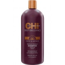 CHI Deep Brilliance Olive & Monoi Optimum Moisture Shampo - Увлажняющий шампунь для поврежденных волос 946мл