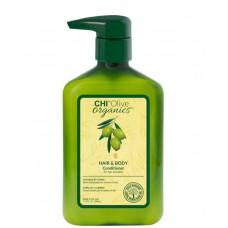 CHI Olive organics HAIR & BODY Conditioner - Кондиционер для волос и тела с маслом оливы 340мл