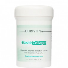 CHRISTINA ElastinCollagen Placental Enzyme Moisture with Vit. A, E & HA - Увлажняющий крем с витаминами A, E и гиалуроновой кислотой для жирной и комбинированной кожи 250мл