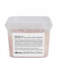 Davines SOLU/ sea salt scrub cleanser - Глубокая очищающая паста-скраб 250мл