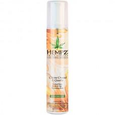 HEMPZ Body & Hair Hydrating Mist Citrine Crystal & Quartz - Спрей увлажняющий для лица, тела и волос с мерцающим эффектом Жёлтый Кварц 150мл