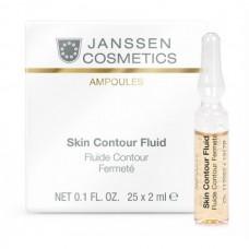JANSSEN Cosmetics Ampoules Skin Contour Fluid Anti-age - Лифтинг-сыворотка в ампулах с пептидами, стимулирующими синтез эластина 3 х 2мл