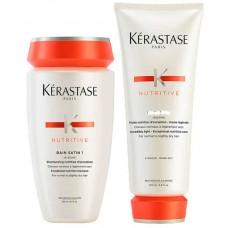 Kerastase Nutritive Set Satin 1 - Набор для ухода за сухими волосами Шампунь + Кондиционер 250 + 200мл