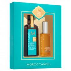 MOROCCANOIL 10th Anniversary Set - Подарочный набор (Масло восстанавливающее для всех типов волос + Сухое масло для тела) 100 + 50мл