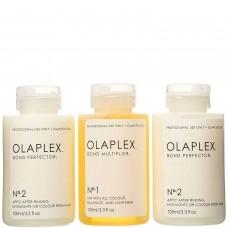 OLAPLEX Traveling Stylist Kit, №1 Bond Multiplier, №2 Bond Perfector - Набор дорожный №1 Концентрат Защита 1 х 100мл, №2 Коктейль Фиксатор 2 х 100мл