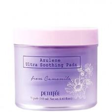PETITFEE Azulene Ultra Soothing Pads - Успокаивающие пэды для лица с АЗУЛЕНОМ 70шт