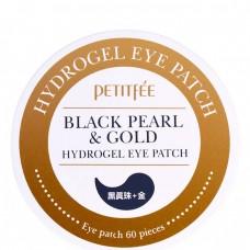 PETITFEE Black pearl & gold hydrogel eye-spot patch - Гидрогелевые патчи для глаз с экстрактом чёрного жемчуга и золота 60шт