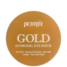 PETITFEE GOLD 24K Hydrogel eye patch - Гидрогелевые патчи для глаз с 24К золотым комплексом 60шт