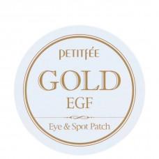 PETITFEE GOLD EGF eye & spot patch - Гидрогелевые патчи для кожи вокруг глаз с золотыми частицами 90шт