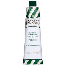 PRORASO GREEN SHAVING CREAM - Концентрированный Крем-мыло для бритья ЗЕЛЁНЫЙ 150мл