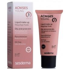Sesderma ACNISES YOUNG Liquid make-up (clair) SPF 5 - Жидкий тональный крем с СЗФ5 (Светлый тон) 30мл