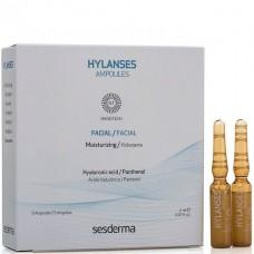 Sesderma HYLANSES AMPOULES Facial - Увлажняющее средство в ампулах 5 x 2мл