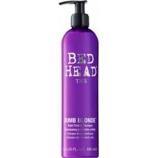 Tigi Bed Head Dumb Blonde Purple Toning Shampoo - Шампунь-корректор для светлых и осветленных волос 400мл